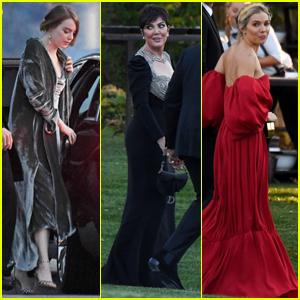 Emma Stone, Kris Jenner, & Sienna Miller Arrive at Jennifer Lawrence & Cooke Maroney's Wedding!