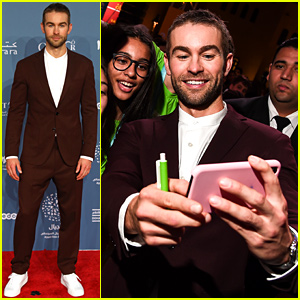 Chace Crawford Pairs Suit With Sneakers at Ajyal Youth Film Festival