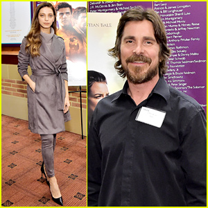 Christian Bale & Angela Sarafyan Reunite at 'The Promise' Event Three Years After Premiere