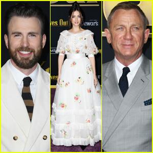 Chris Evans, Ana de Armas, & Daniel Craig Premiere 'Knives Out'