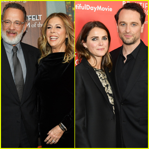 Tom Hanks & Matthew Rhys Are Supported by Their Leading Ladies at 'A Beautiful Day in the Neighborhood' Premiere