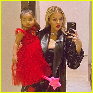 Khloe Kardashian's Baby Daughter True Adorably Dances in a Red Dress (Video)