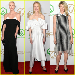 Charlize Theron, Nicole Kidman, & Laura Dern Go Glam for Producers Guild Awards 2020