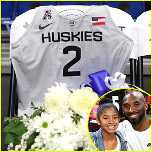 Gianna Bryant Remembered By Dream School University of Connecticut with Jersey at Huskies Basketball Game