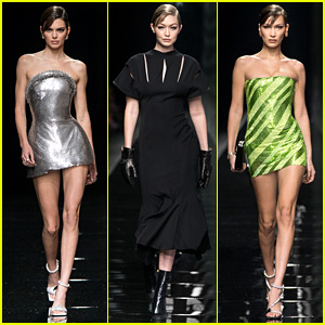 Kendall Jenner, Hadid Sisters, & More Top Models Walk in Versace's Milan Show