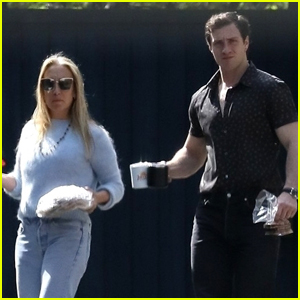 Aaron Taylor-Johnson Bares Super Buff Biceps While Out with Wife Sam!