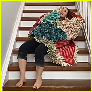 Drew Barrymore Hilariously Tries & Fails to Do Stella McCartney's Staircase Challenge - Watch! (Video)