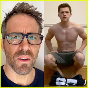 Watch Ryan Reynolds' Hilarious Reaction to Tom Holland's Handstand Challenge!