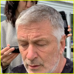 Hilaria Baldwin Cuts Husband Alec Baldwin's Hair in Quarantine - Watch! (Video)
