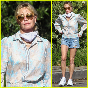 Melanie Griffith Rocks Daisy Dukes for Afternoon Stroll!