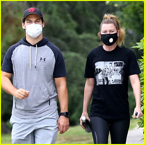 Grey's Anatomy's Ellen Pompeo & Giacomo Gianniotti Reunite for a Hike