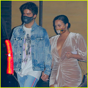 Demi Lovato & Fiance Max Ehrich Hold Hands While Leaving Nobu