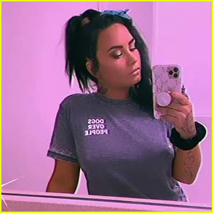Demi Lovato Sends a Message with Her Shirt Amid Split from Max Ehrich