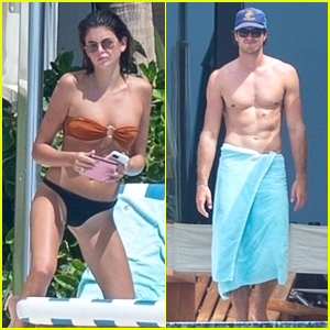 Kaia Gerber & Boyfriend Jacob Elordi Look Hot in Bathing Suits on Vacation Together in Mexico