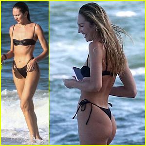 Victoria's Secret Angel Candice Swanepoel Soaks Up the Sun In Her Bikini