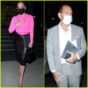 Jennifer Lopez & Alex Rodriguez Attend a Business Meeting Together in West Hollywood