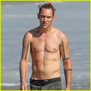 Jonathan Rhys Meyers Goes Shirtless at the Beach in Rare Photos