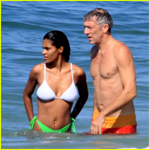 Vincent Cassel & Wife Tina Kunakey Bare Their Hot Bodies at the Beach in Brazil!