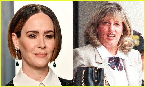 Side by side photos of Sarah Paulson and Linda Tripp