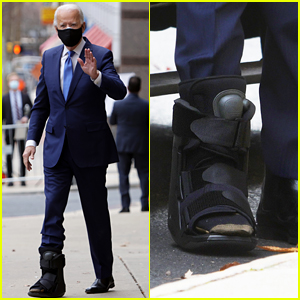 Joe Biden Wears Walking Boot After Suffering Fracture in Foot