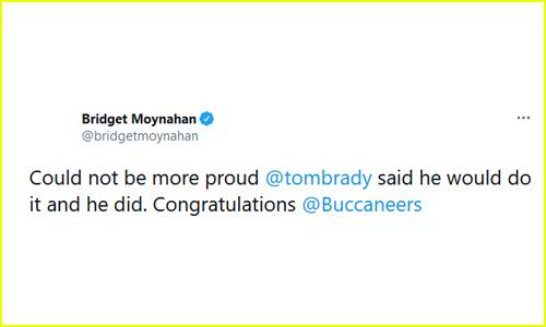 Bridget Moynahan's Tweet
