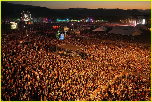 Coachella crowd shot