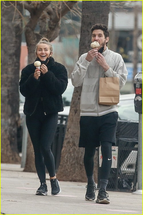 Julianne Hough and Ben Barnes ice cream date