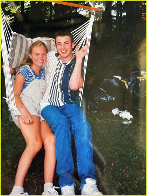 Chris Evans and Kate Bosworth throwback photo