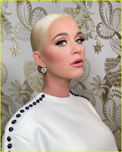 Katy Perry backstage at inauguration
