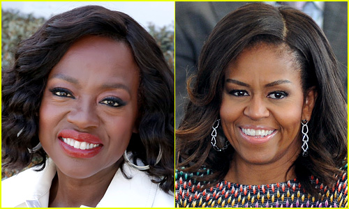 Side-by-side comparison of Viola Davis and Michelle Obama