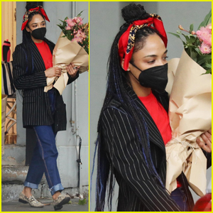 Tessa Thompson Picks Up Flowers in Sydney Before 'Thor: Love And Thunder' Filming Begins