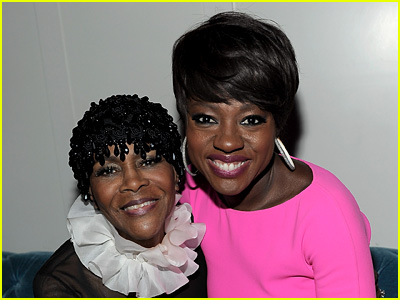 Viola Davis and Cicely Tyson posing together