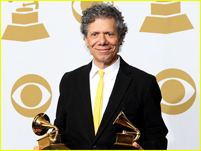 Chick Corea with his Grammys