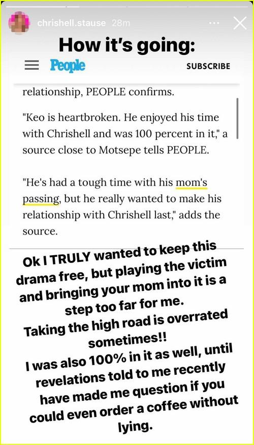 Chrishell Stause calls Keo Motsepe a liar