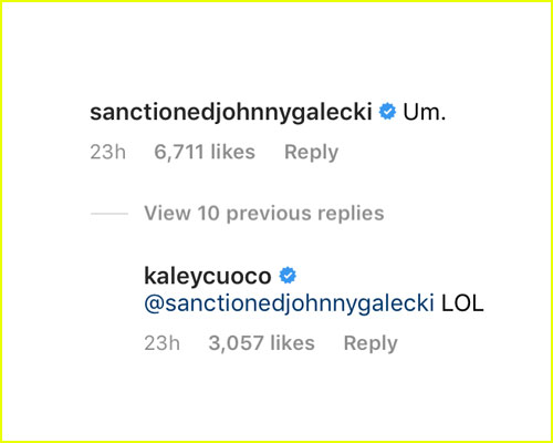 Johnny Galecki response