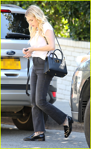 Emma Roberts Leaving A Photo Shoot