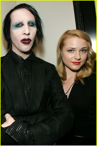 Evan Rachel Wood with Marilyn Manson