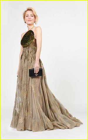 Gillian Anderson for 2021 Golden Globes