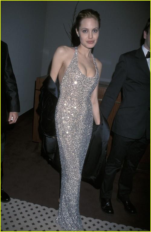 Angelina Jolie on Golden Globes red carpet