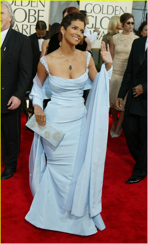 Halle Berry on Golden Globes red carpet