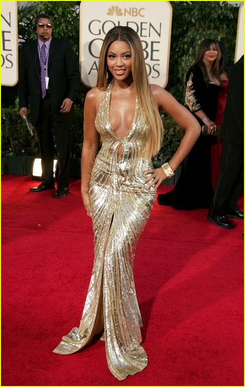 Beyonce on Golden Globes red carpet