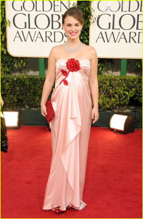 Natalie Portman on Golden Globes red carpet