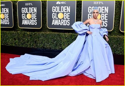 Lady Gaga on Golden Globes red carpet
