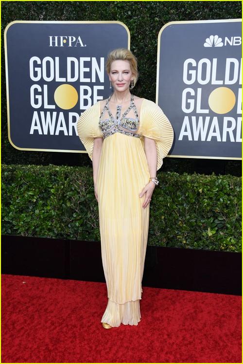 Cate Blanchett on Golden Globes red carpet