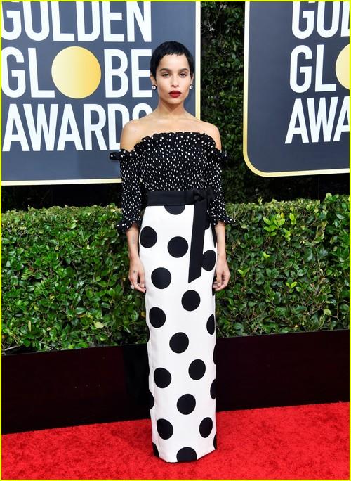 Zoe Kravitz on Golden Globes red carpet