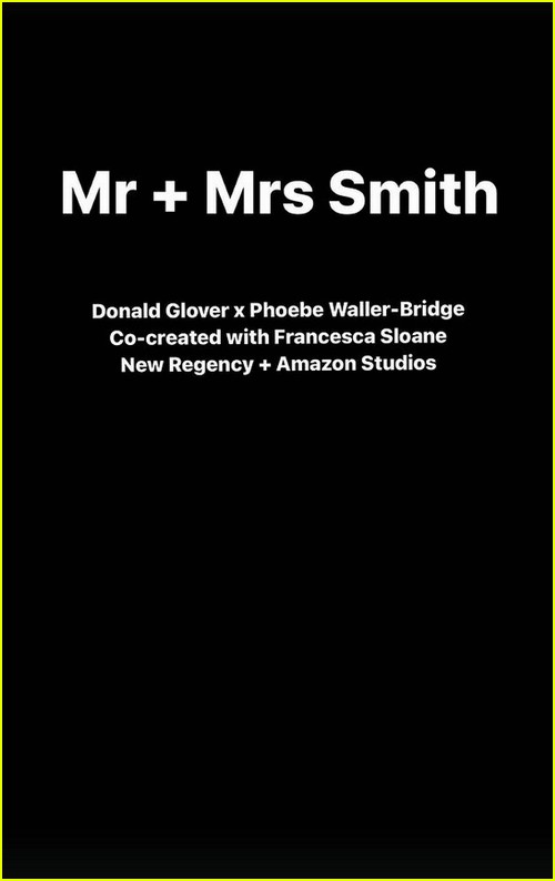 Mr and Mrs Smith series announcement