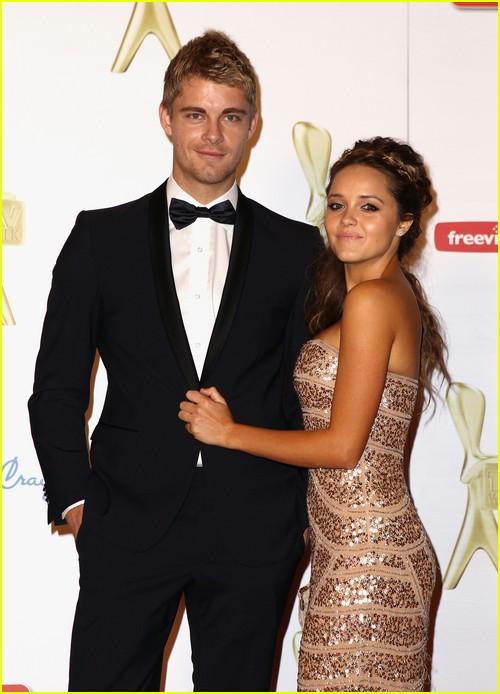 Rebecca Breeds with her husband Luke Mitchell