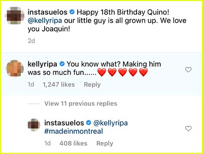 Kelly Ripa comment
