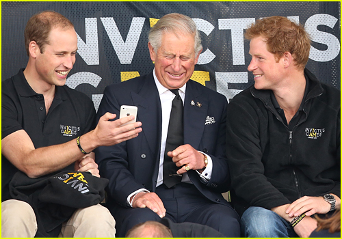 Charles, William and Harry at the 2014 Invictus Games