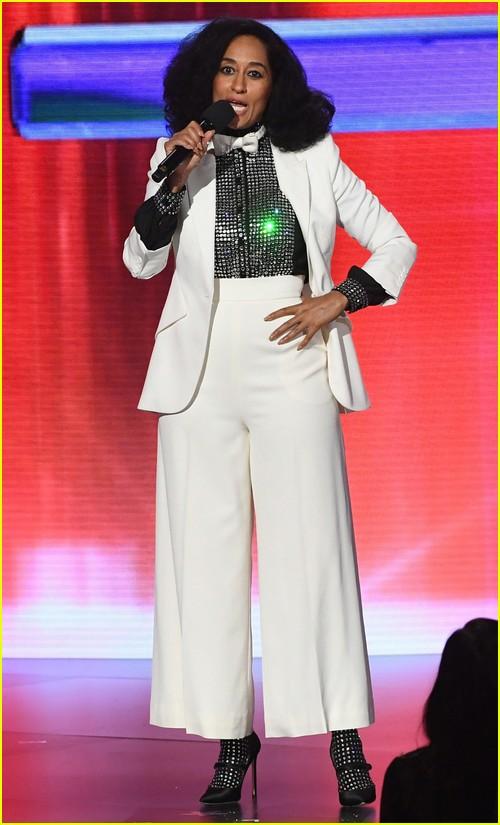 Tracee Ellis Ross wears mom Diana Ross' sparkling blouse